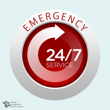 Emergency Service, 24/7, 365 #Vector Graphics