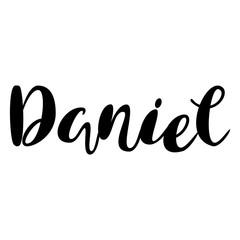 Male name - Daniel. Lettering design. Handwritten typography. Vector