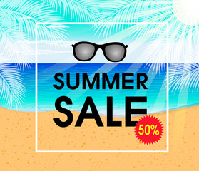 Summer sale design template Fresh discounts