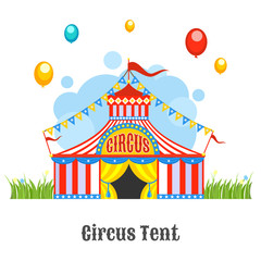 Circus Tent Vector Illustration Isolated On A White Background