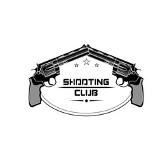 Shooting club emblem, logo. For use as logos on cards, in printing, posters, invitations, web design and other purposes.
