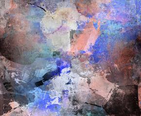 abstrakt blau- beige- brauntöne