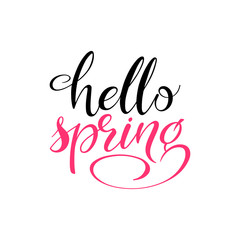 Hello spring inscription