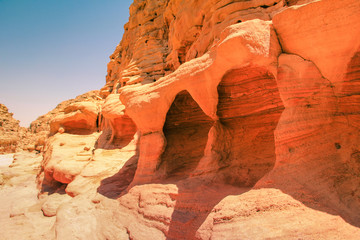 Colored Canyon of Egypt. Sinai desert, Nuweiba.