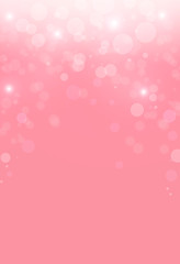 Christmas abstract pink background with bokeh light.