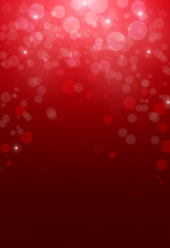 Christmas abstract red background with bokeh light.