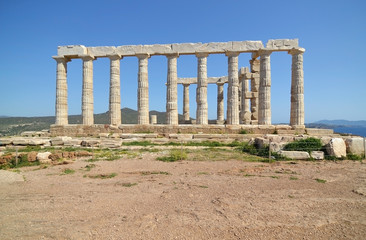 temple of Poseidon at Cape Sounion Greece