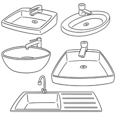 vector set of sink