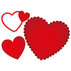 red heart background icon, vector illustraction design