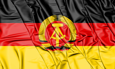 3D Flag of German Democratic Republic. 3D Illustration. Wall mural