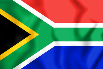 3D Flag of the South Africa