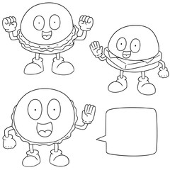 vector set of burger cartoon