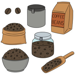 vector set of coffee beans
