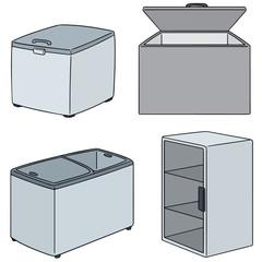 vector set of freezer