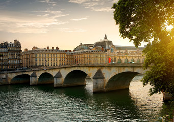 Fototapete - Bridge Orsay in Paris