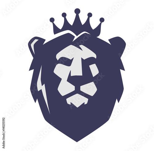 Vector lion head