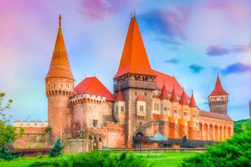 Wall Mural - Medieval Hunyad Corvin castle, Hunedoara town,Transylvania regiom,Romania,Europe