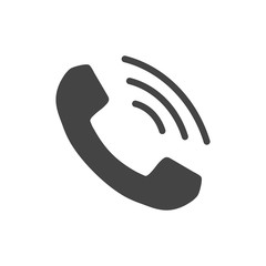Phone icon vector, contact, support service sign isolated on white background. Telephone, communication icon in flat style.