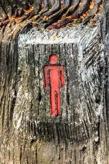 Sign toilet man