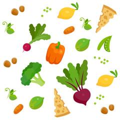Health food 100% organic food background