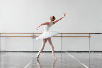 Beautiful ballerina rehearsal in ballet class