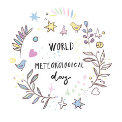 Greeting card of the World Meteorological Day