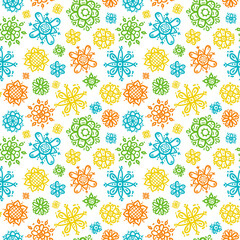 Floral seamless pattern for textile or wrapping paper, vector endless ornament