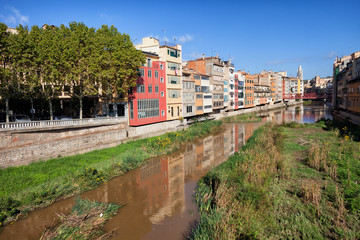 City of Girona in Catalunya Spain