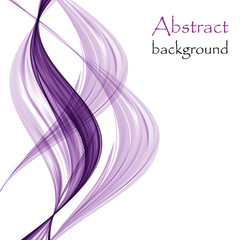 White background with purple abstract waves