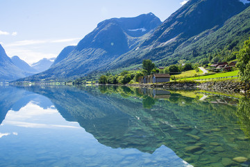 beautiful view of the Norwegian fjord