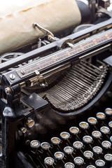 Vintage grunge typewriter closeup image