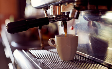 Coffee cup and coffee espresso machine
