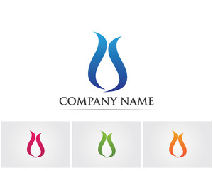 Wave water logo