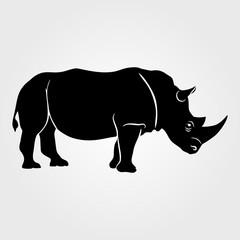 Rhinoceros icon on a white background