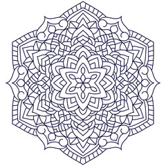 Outline Mandala for coloring book.Decorative elements. Oriental pattern, vector illustration. Anti-stress therapy pattern. Beautiful unusual circular pattern.