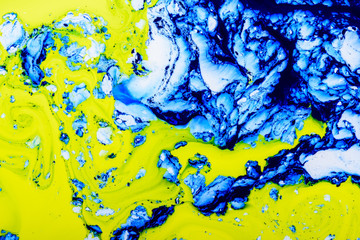 Mixed paint background. Abstract background color paint mixed flows.