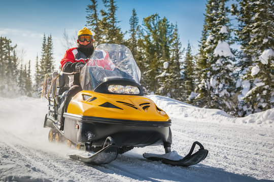 snowmobile driving