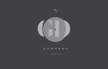 gd g d  grey modern alphabet company letter logo icon
