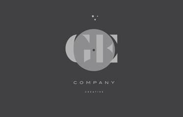 ge g e  grey modern alphabet company letter logo icon