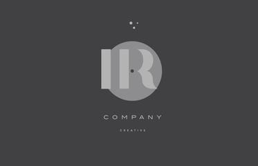 ir i r  grey modern alphabet company letter logo icon