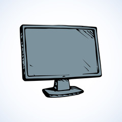 Monitor. Vector drawing