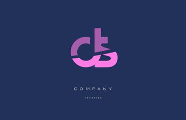ds d s  pink blue alphabet letter logo icon