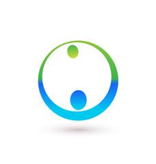 Handshake icon logo vector image