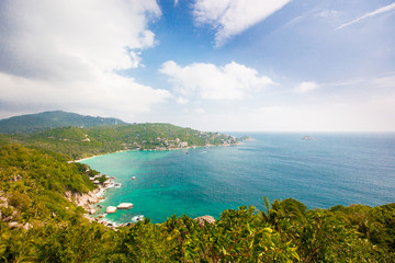 Foto op Plexiglas Caraïben Aerial view of the beach tropical island