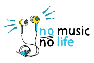 no music, no life. motivating picture. great for printing on t-shirts.