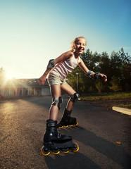 Child on roller skates
