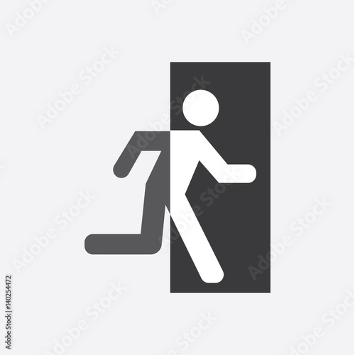 Wall mural Exit Icon Vector
