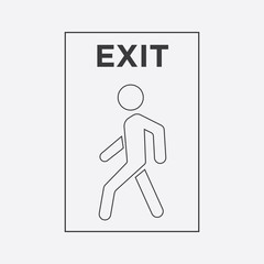 Wall Mural - man icon. exit icon.line style