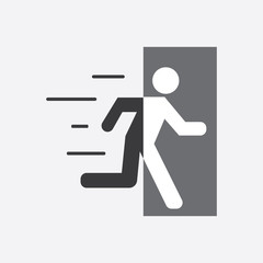 Wall Mural - vector emergency exit icon. Modern graphic element