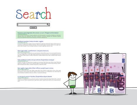 Annonce publicitaire sur moteur de recherche